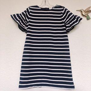 JCrew Navy Stripe Girls Dress